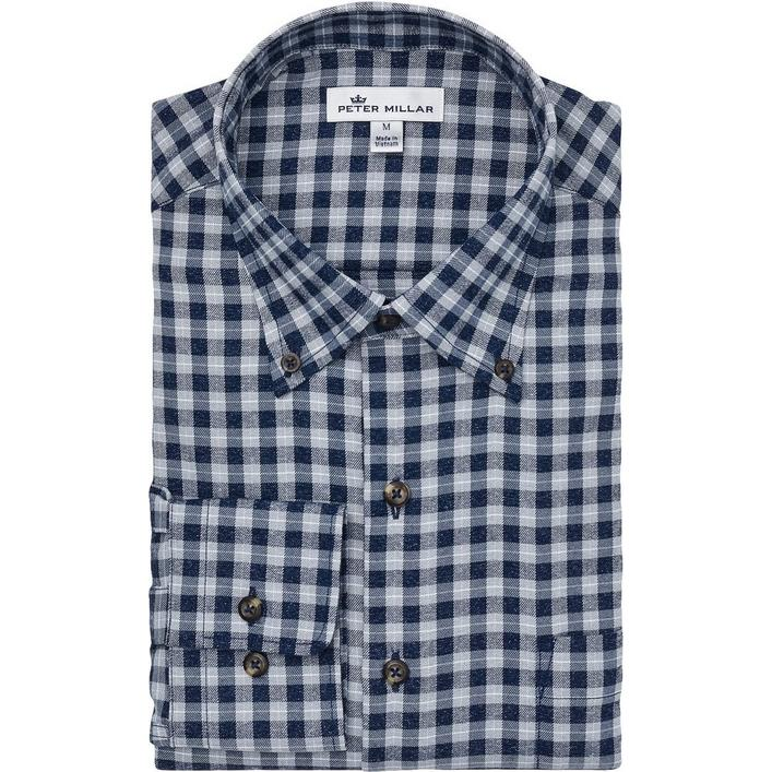 Men's Betts Performance Check Flannel Woven Long Sleeve Shirt