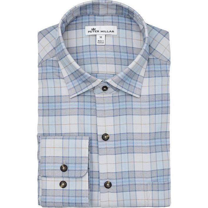 Men's Leavell Performance Check Flannel Woven Long Sleeve Shirt