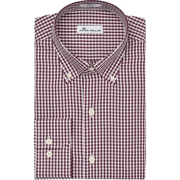 Men's Crown Soft Gingham Woven Long Sleeve Shirt