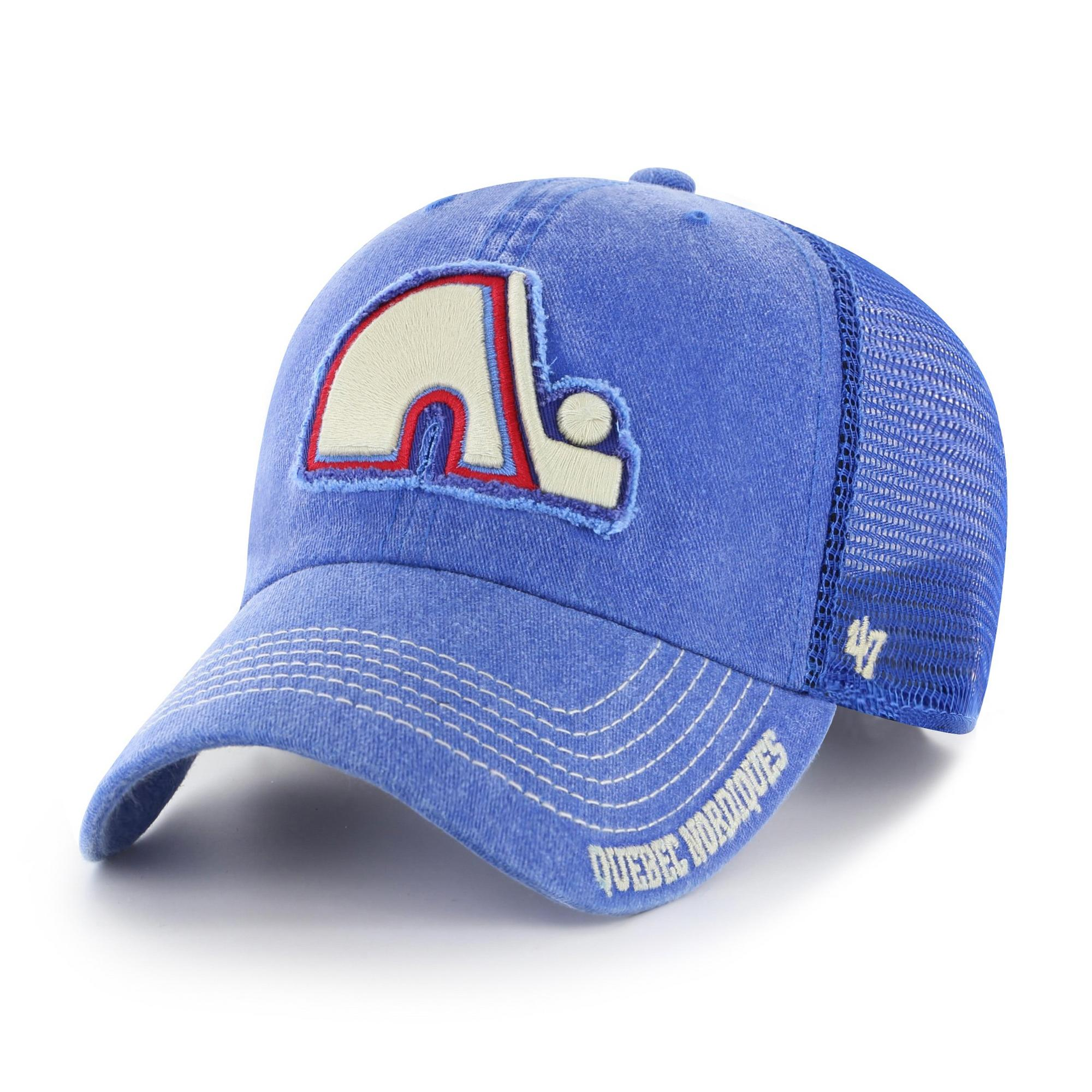Men's Quebec Nordiques Burnstead 47 Clean Up Cap