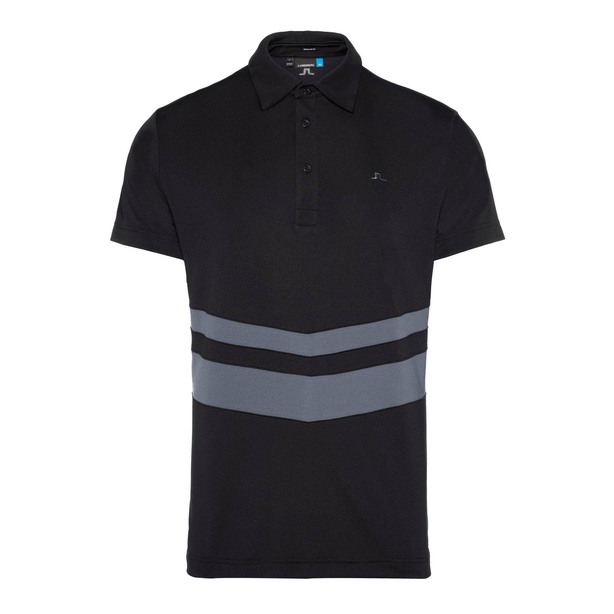 Men's Double Stripe Regular Fit Jersey Short Sleeve Polo
