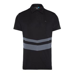 Men's Double Stripe Regular Fit Jersey Short Sleeve Polo