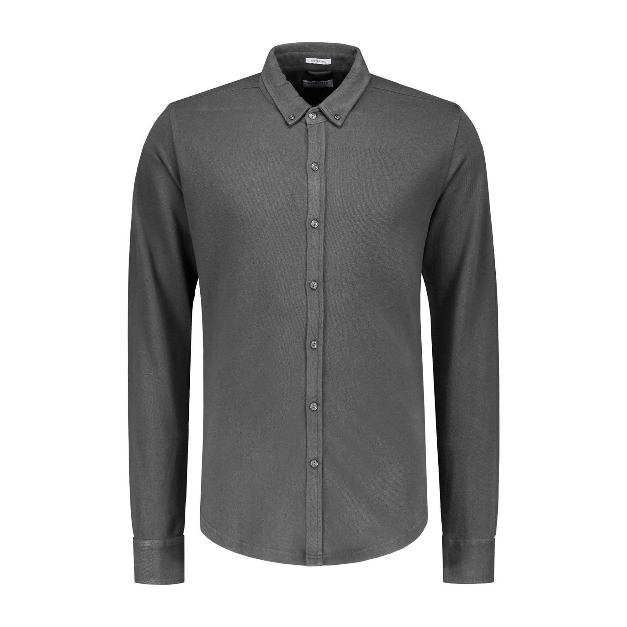 Men's Brush Pique Woven Long Sleeve Shirt