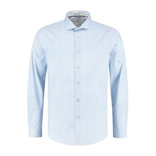 Men's Mini Dot Stretch Poplin Woven Long Sleeve Shirt