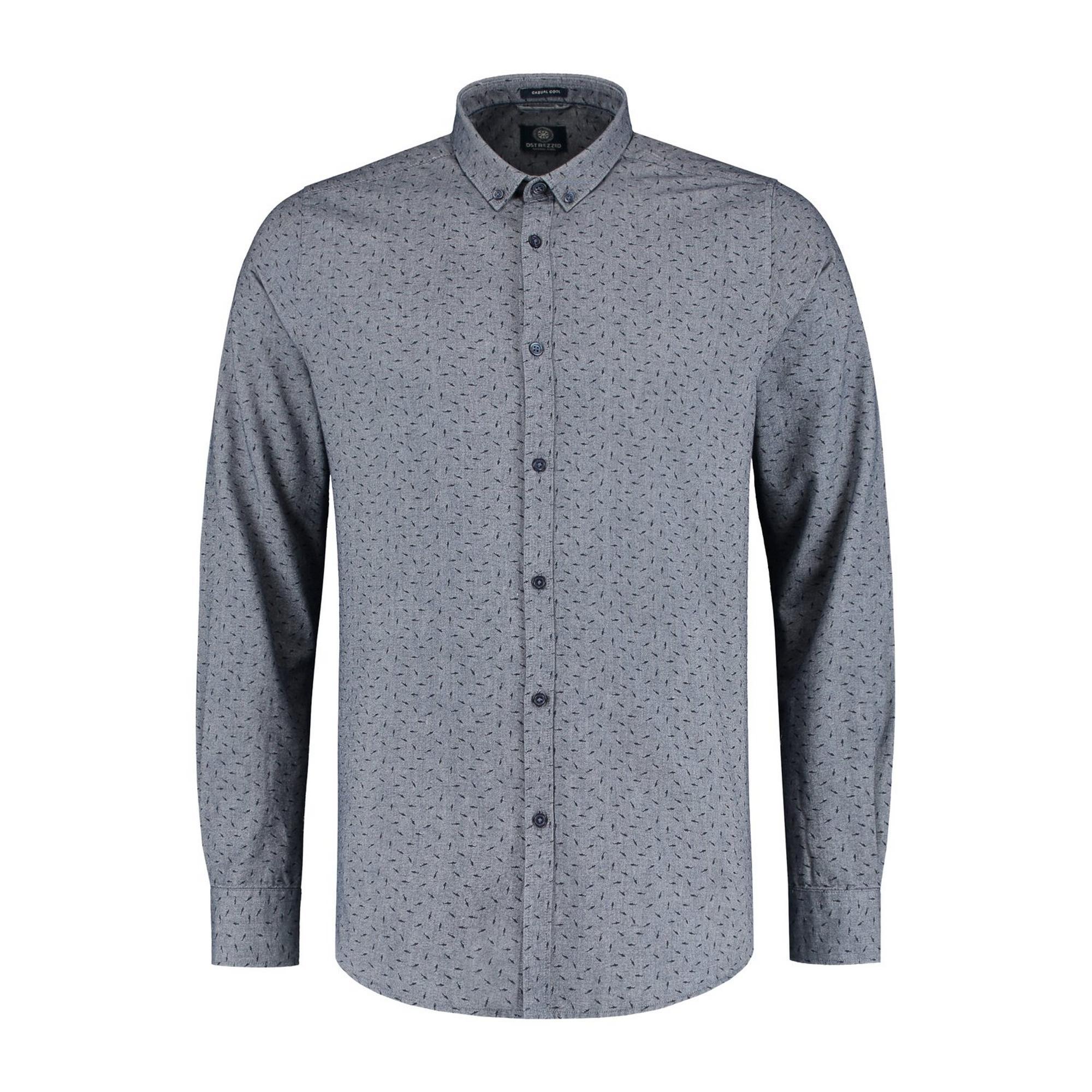 Men's Shark Chambray Woven Long Sleeve Shirt
