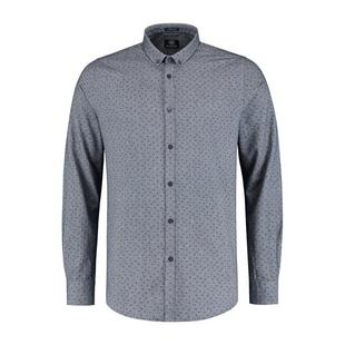 Men's Shark Chambray Woven Long Sleeve Shirt