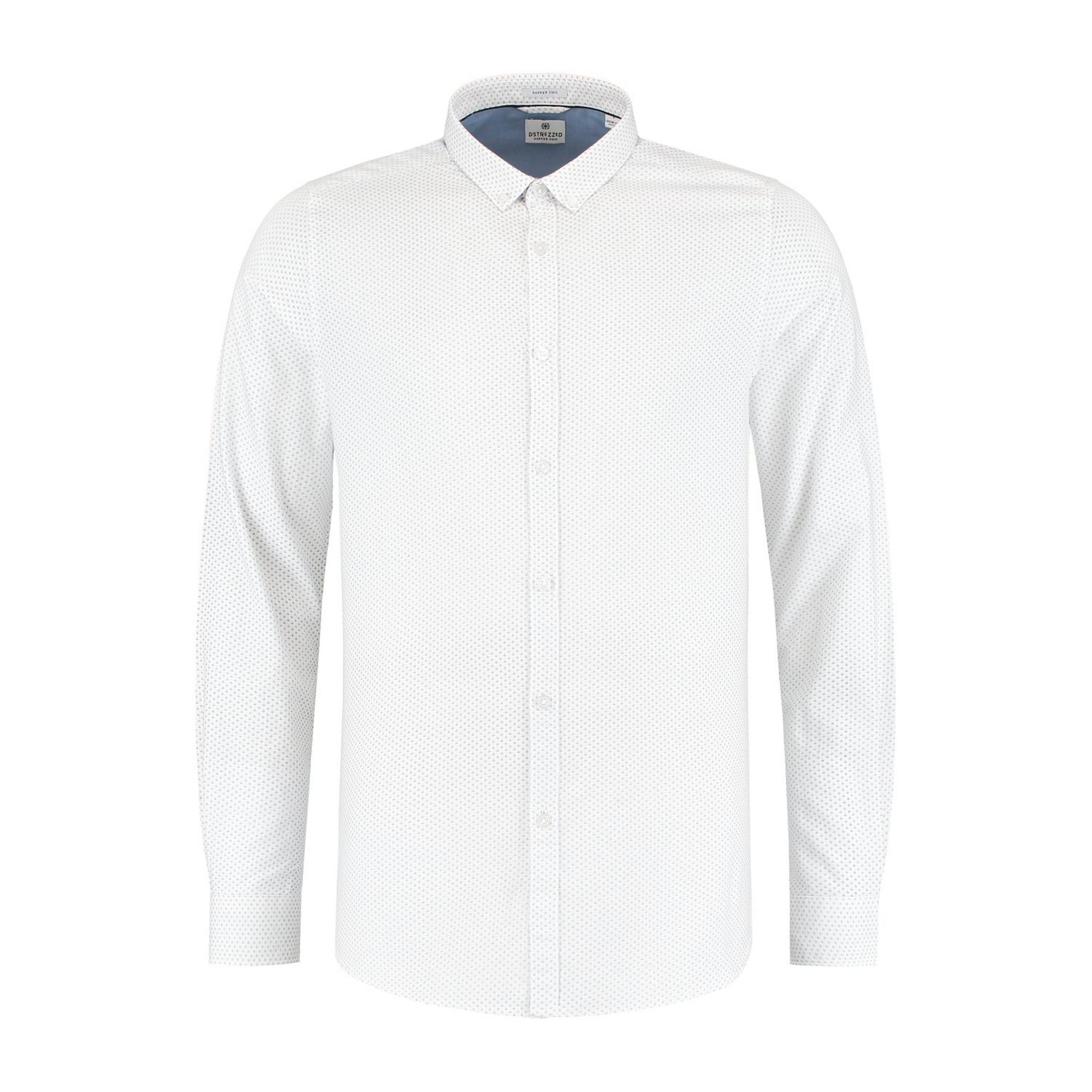 Men's Small Dot Fine Jacquard Woven Long Sleeve Shirt