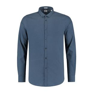 Men's Small Dot Fine Jacquard Woven Long Sleeve Shirt