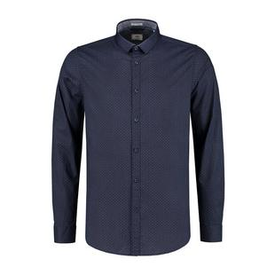Men's Diamond Dot Stretch Poplin Woven Long Sleeve Shirt