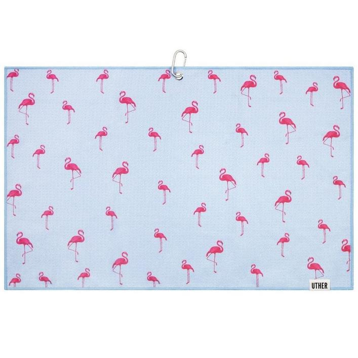 Microfiber Golf Towel - Flamingo Lake
