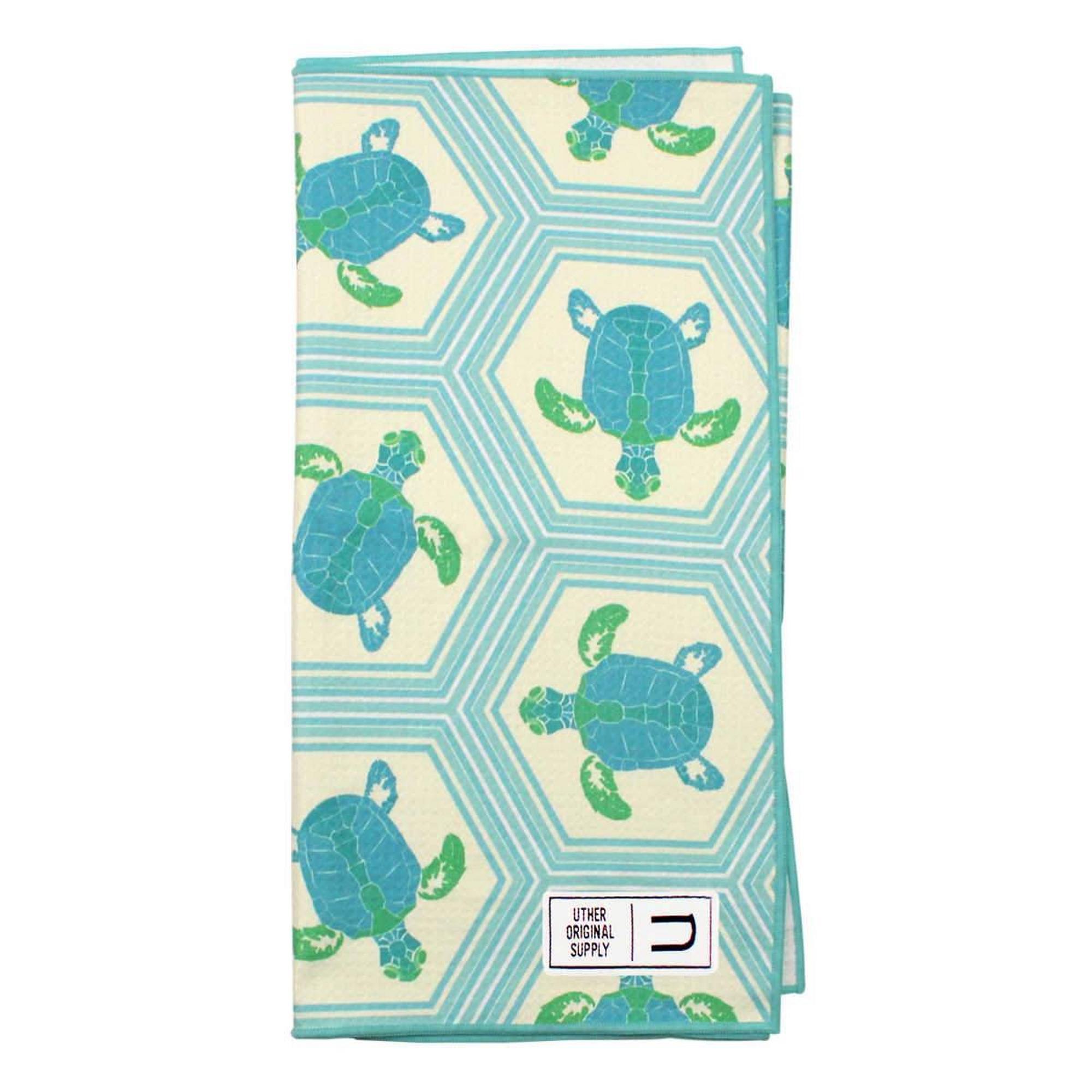 Microfiber Tour Golf Towel - Salty Turtles