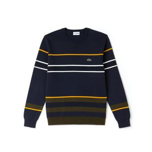 Men's Crew Neck Multicolor Striped Milano Sweater