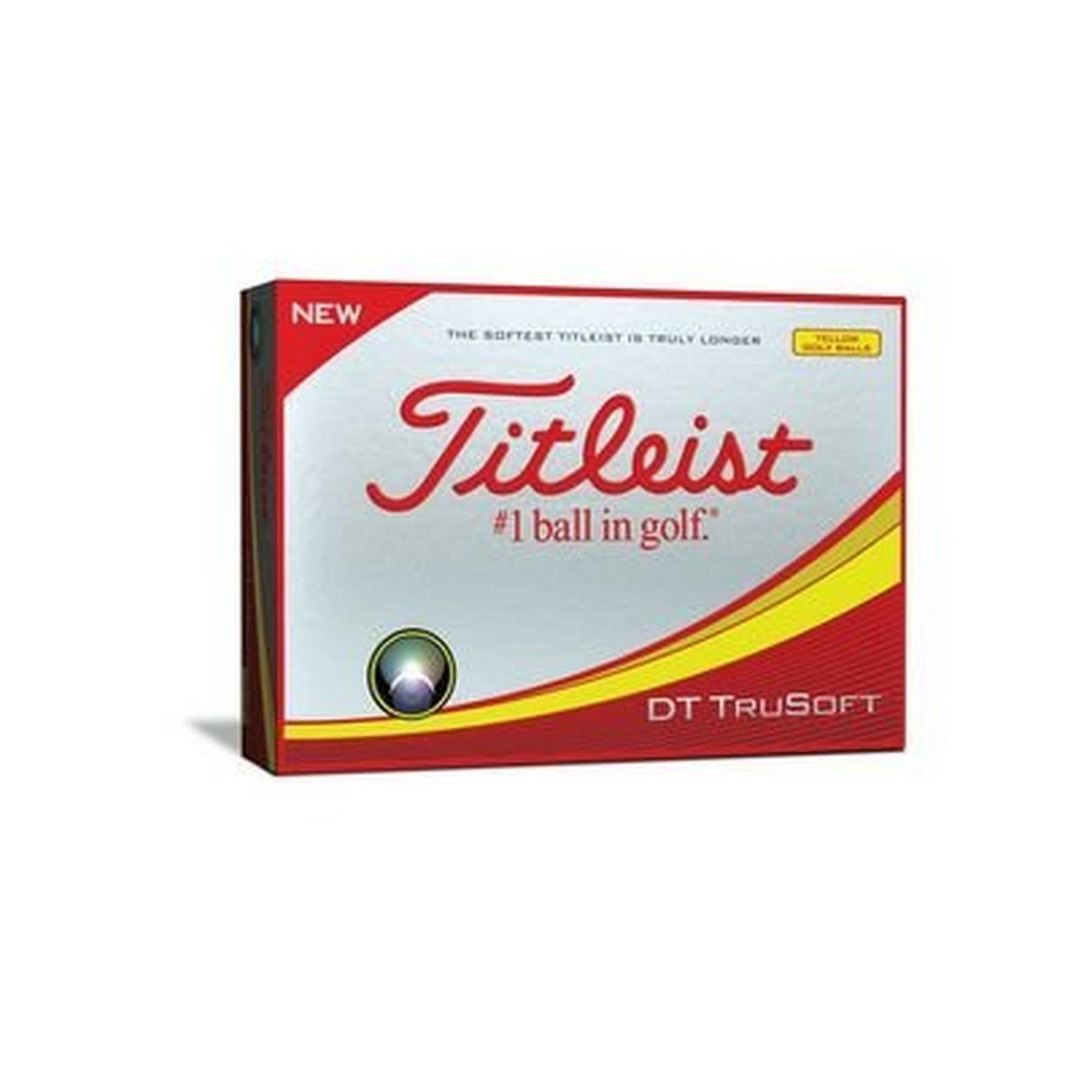 DT TruSoft Personalized Golf Balls - Yellow