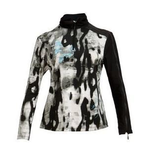 Women's Half Zip Camo Printed Long Sleeve Top