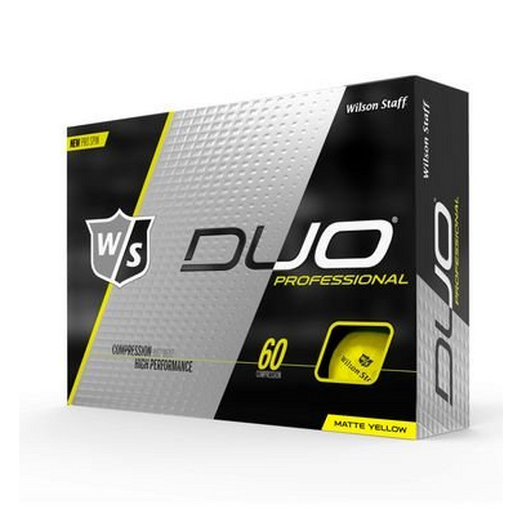 DUO Professional Golf Balls - Yellow