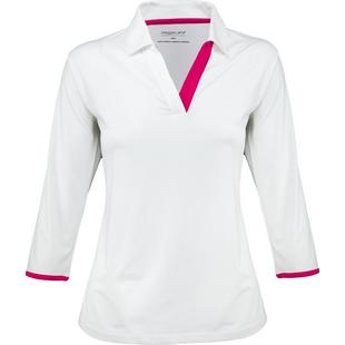 Women's Open Neck 3/4 Sleeve Polo