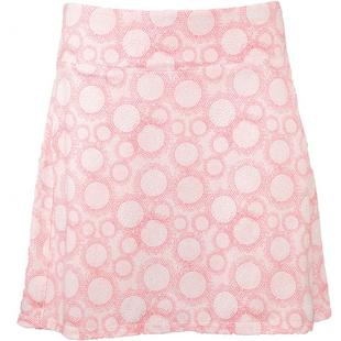 Women's Printed Circle Dot Pull On Skort