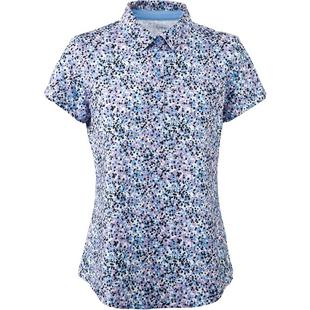 Women's All Over Print Short Sleeve Polo