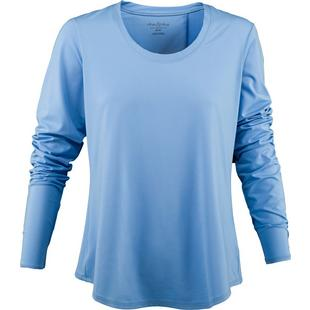 Women's Cross Back Long Sleeve Top