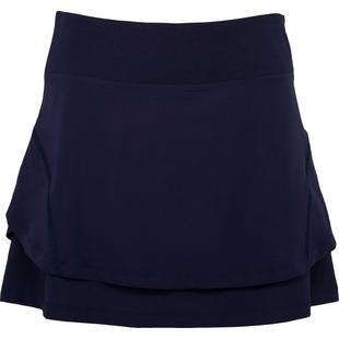 Women's Double Layer Flounce Pull On Skort