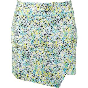Women's Printed Cross Over Asymmetrical Pull On Skort