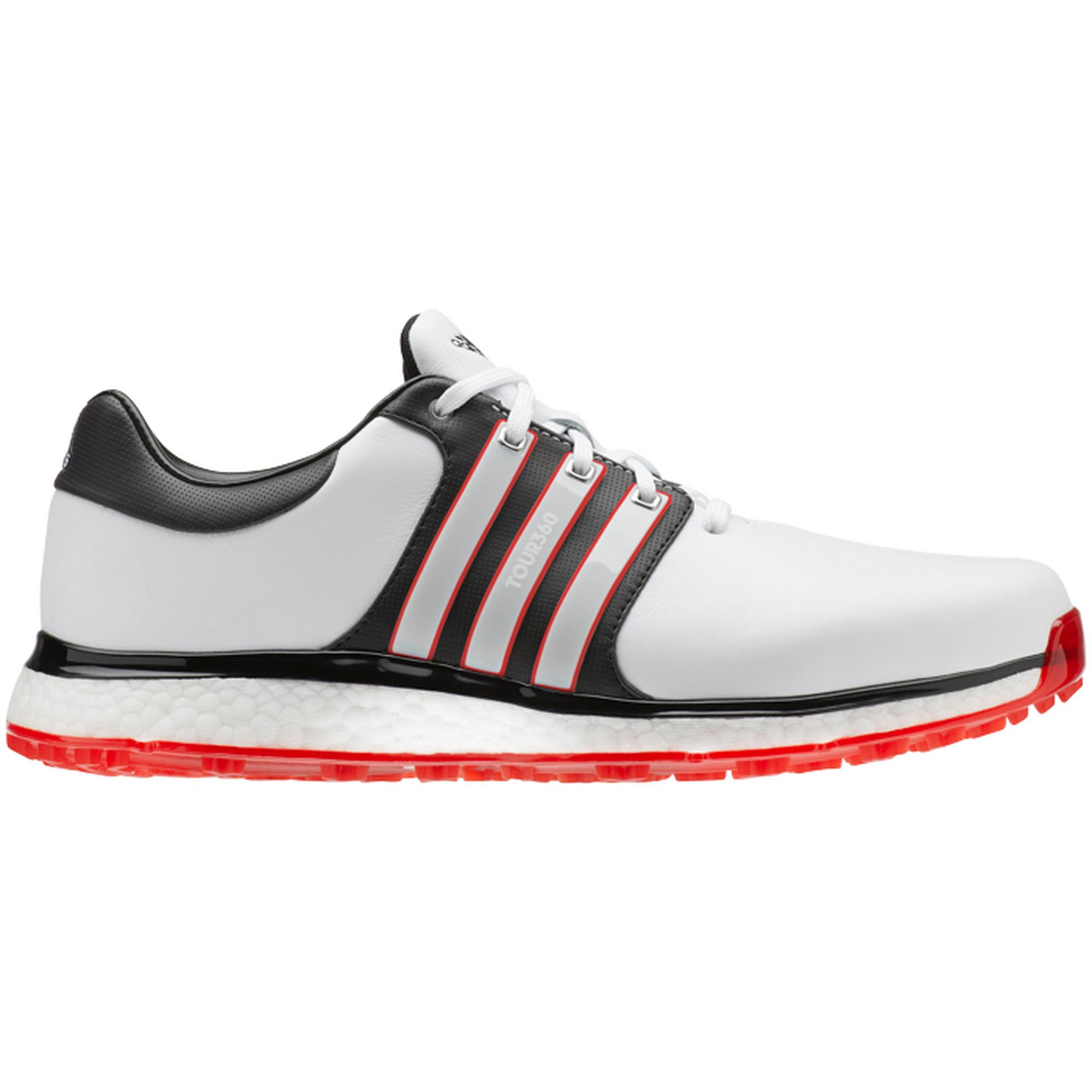 Men's Tour360 XT Spikeless Golf Shoe - WHITE/BLACK/RED
