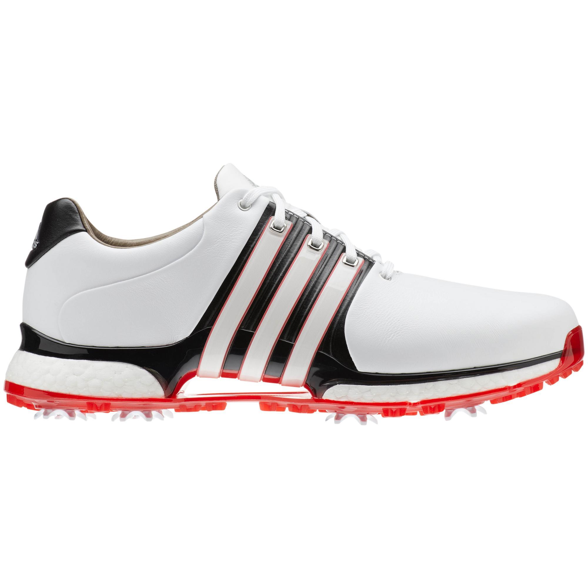 Men's Tour360 XT Spiked Golf Shoe - WHITE/BLACK/RED