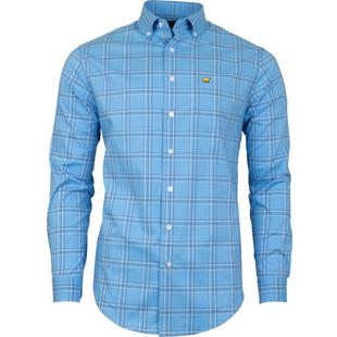 Men's Large 4 Colour Plaid Woven Long Sleeve Shirt
