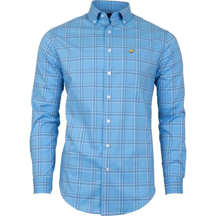 Men's Large 4 Colour Plaid Woven Long Sleeve Shirt