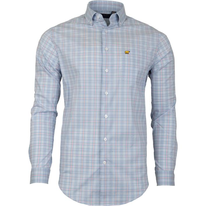 Men's Medium 4 Colour Plaid Woven Long Sleeve Shirt