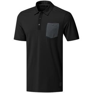 Polo adicross avec poche à manches courtes pour hommes