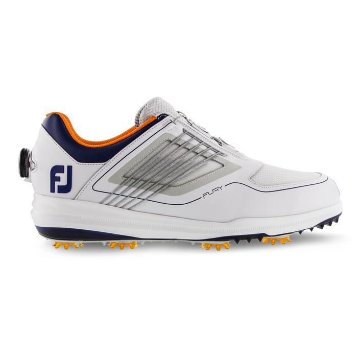 Men's Fury  Boa Spiked Golf Shoe - WHITE/GREY/NAVY/ORANGE