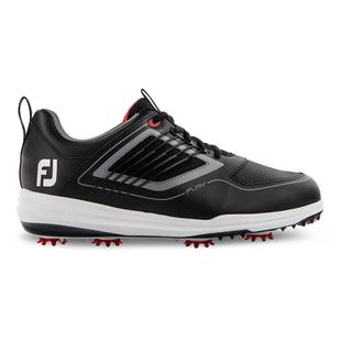 Men's Fury Spiked Golf Shoe - BLACK/GREY/RED