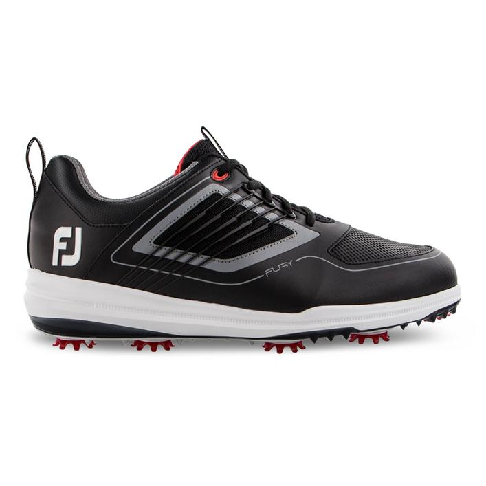 Men's Fury Spiked Golf Shoe - BLACK/GREY/RED