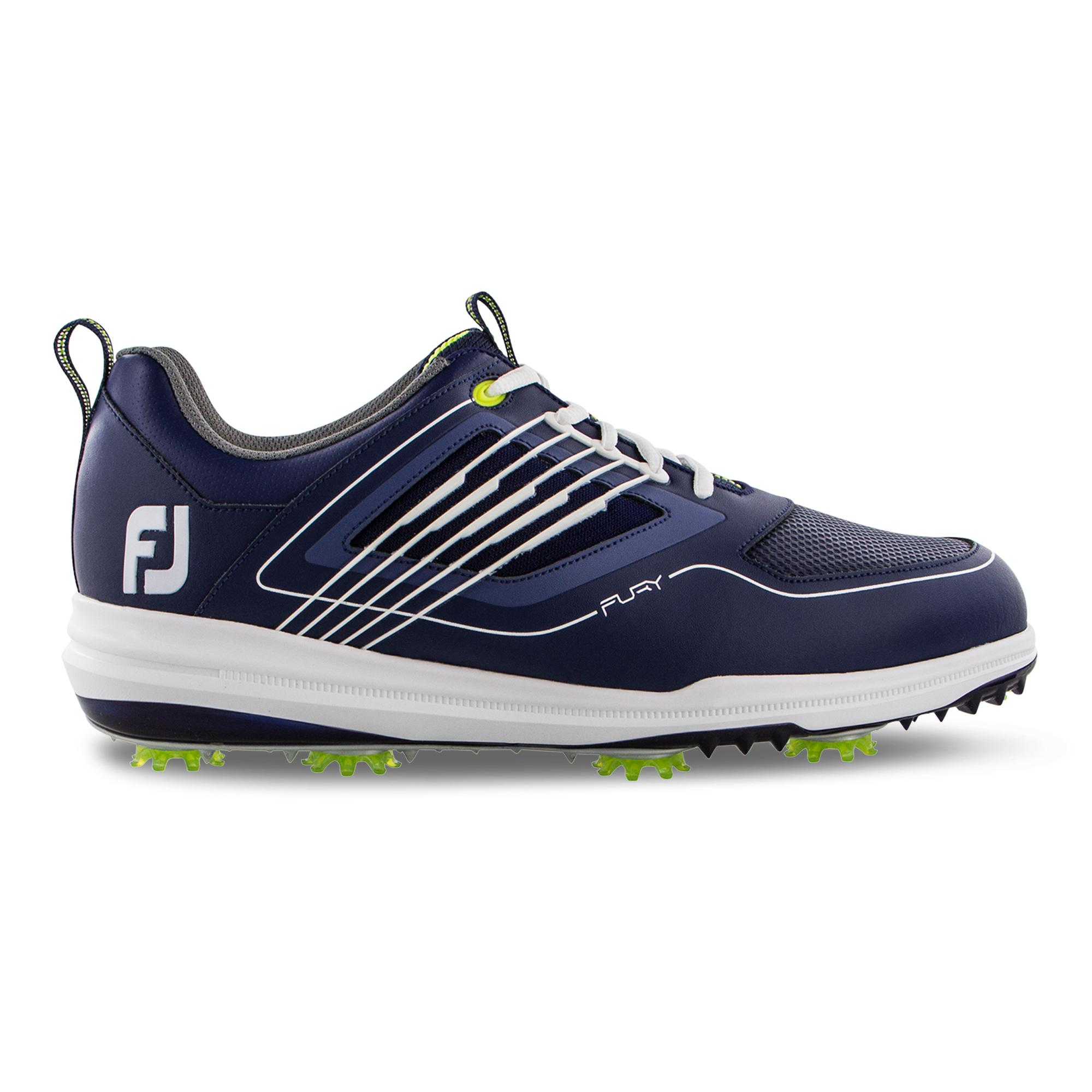 Men's Fury Spiked Golf Shoe - NAVY/WHITE/GREEN