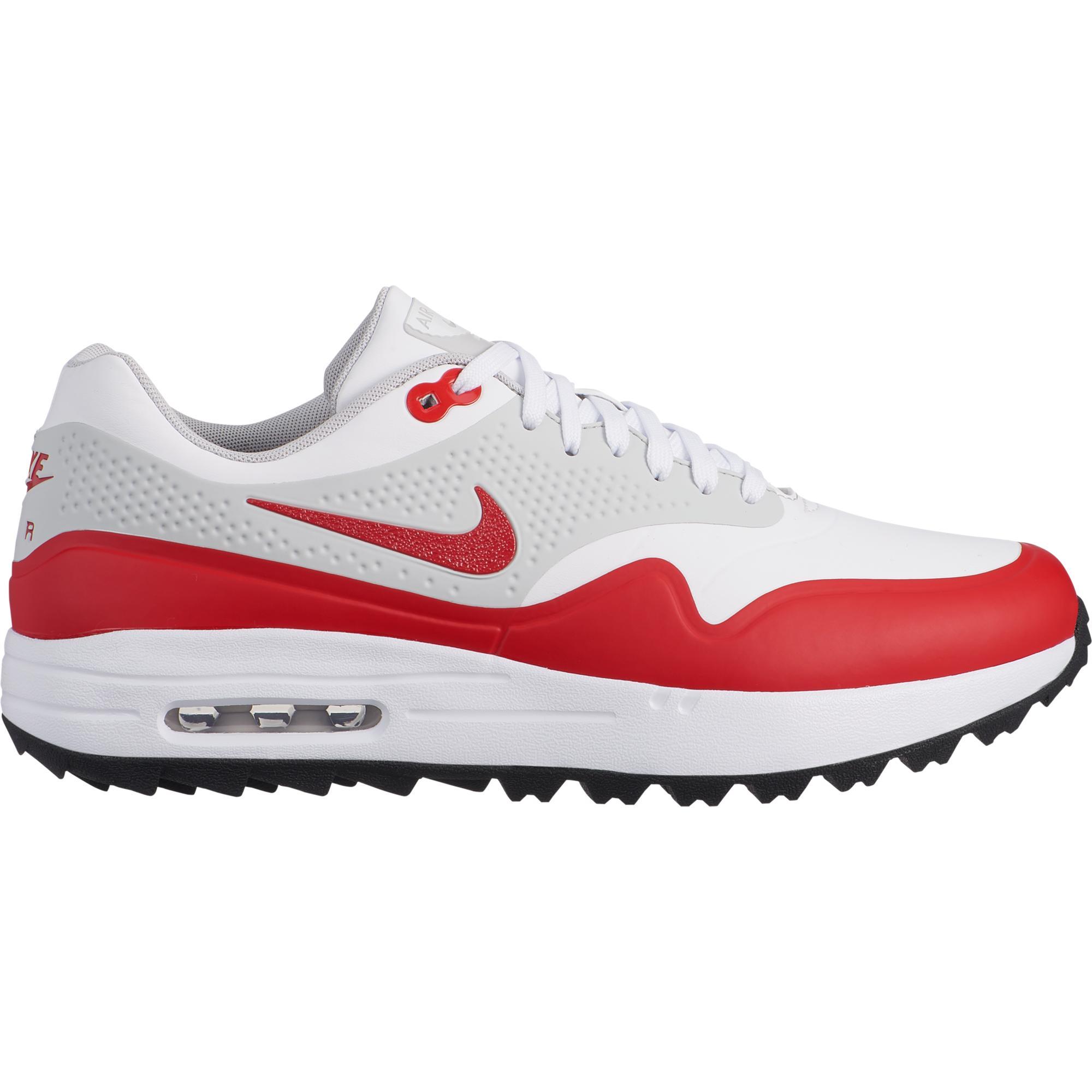 Men's Air Max 1 OG Spikeless Golf Shoe - WHITE/RED