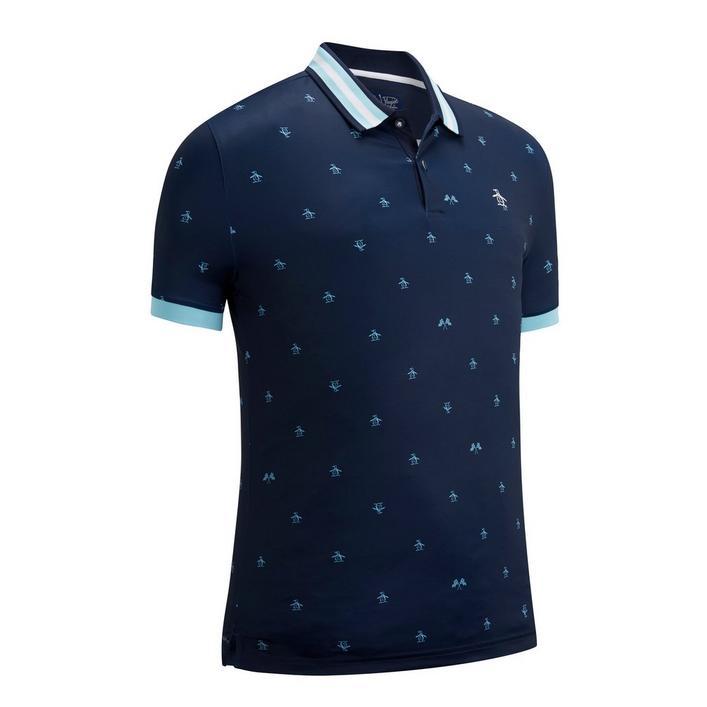 Men's Allover Pete Print Short Sleeve Stretch  Shirt