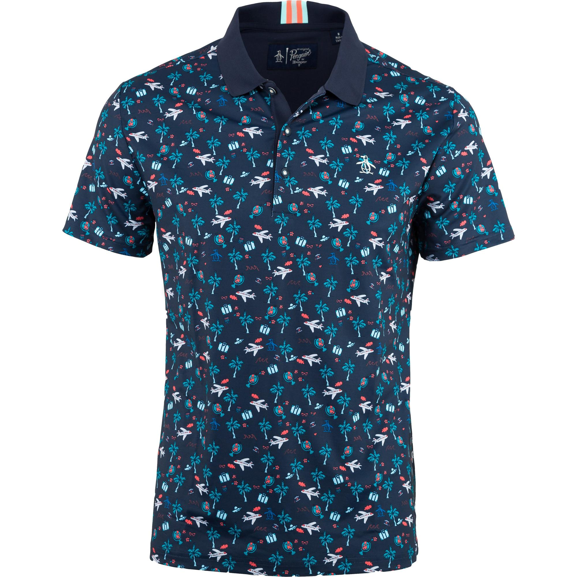 Men's Allover Conversational Print Stretch Short Sleeve Shirt