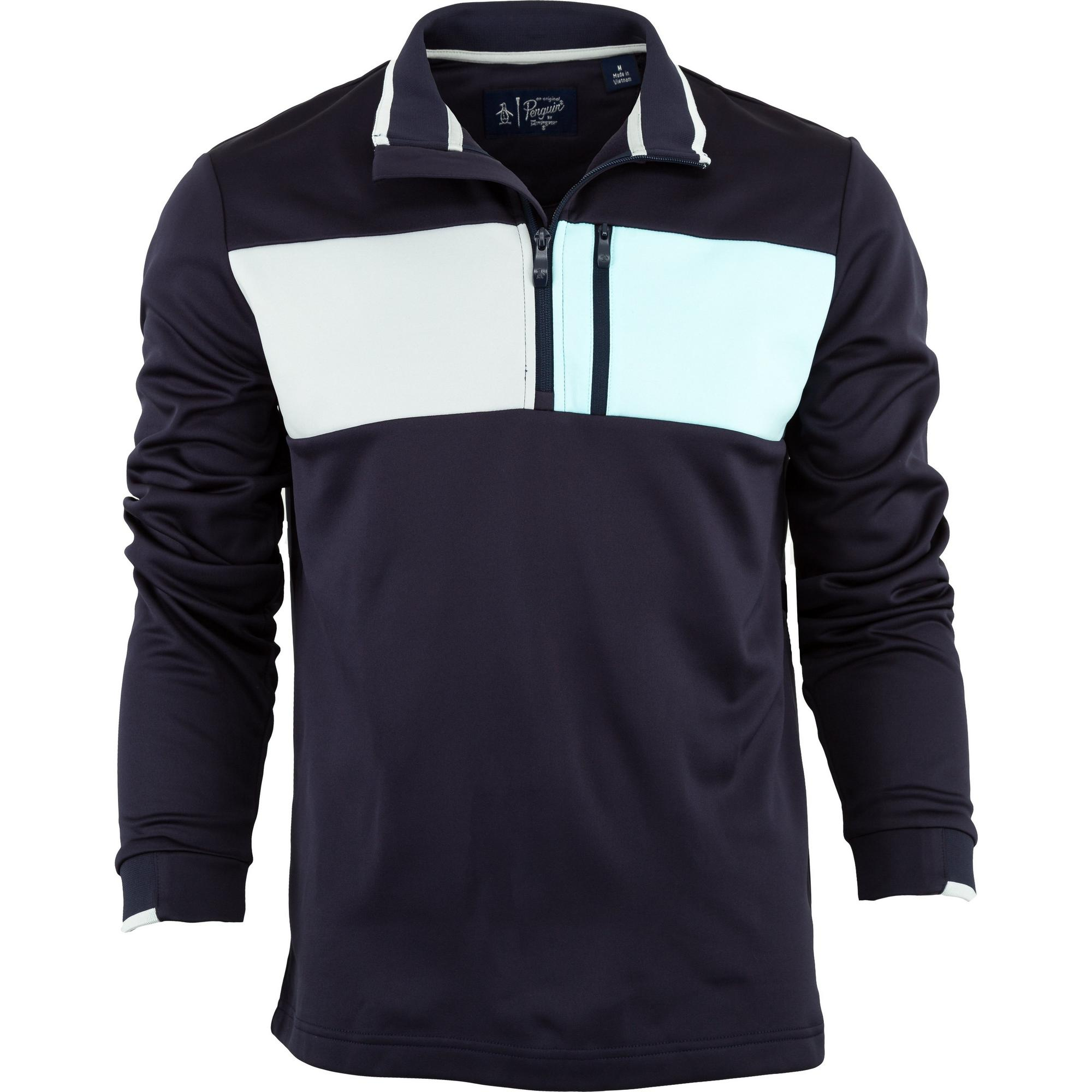 Men's Colour Block 1/4 Zip Pullover
