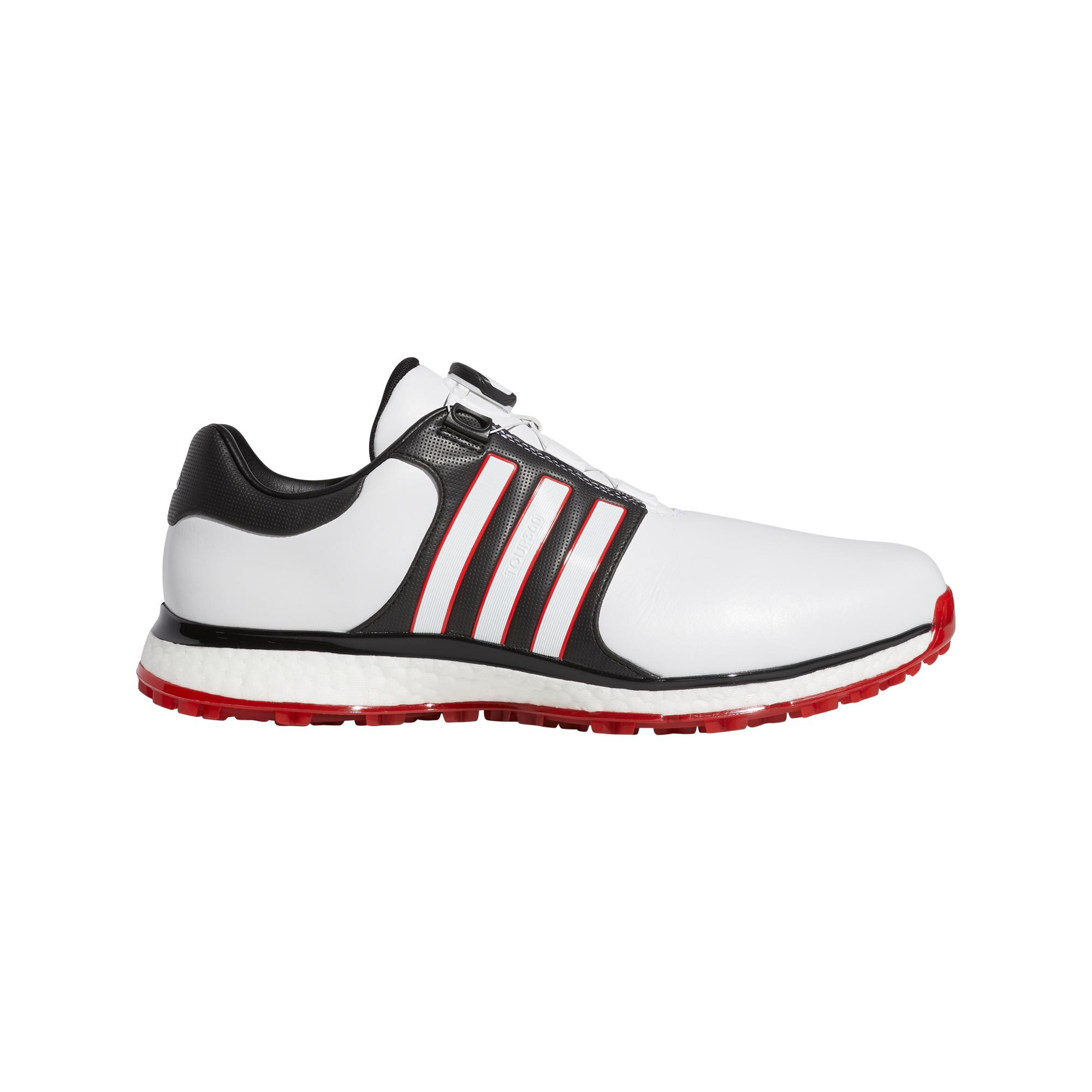 Men's Tour360 XT Boa Spikeless Golf Shoe WHITE/BLACK/RED