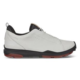 Men's Goretex Biom Hybrid 3 Recessed Lace Spikeless Golf Shoe - White/Black/Red