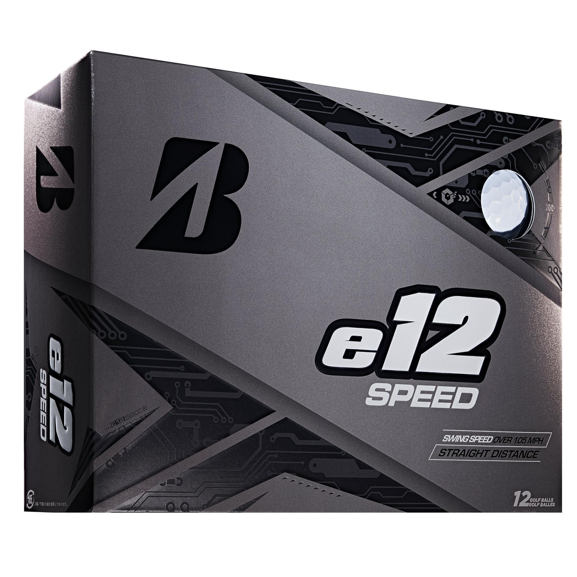 e12 Speed Golf Balls - White