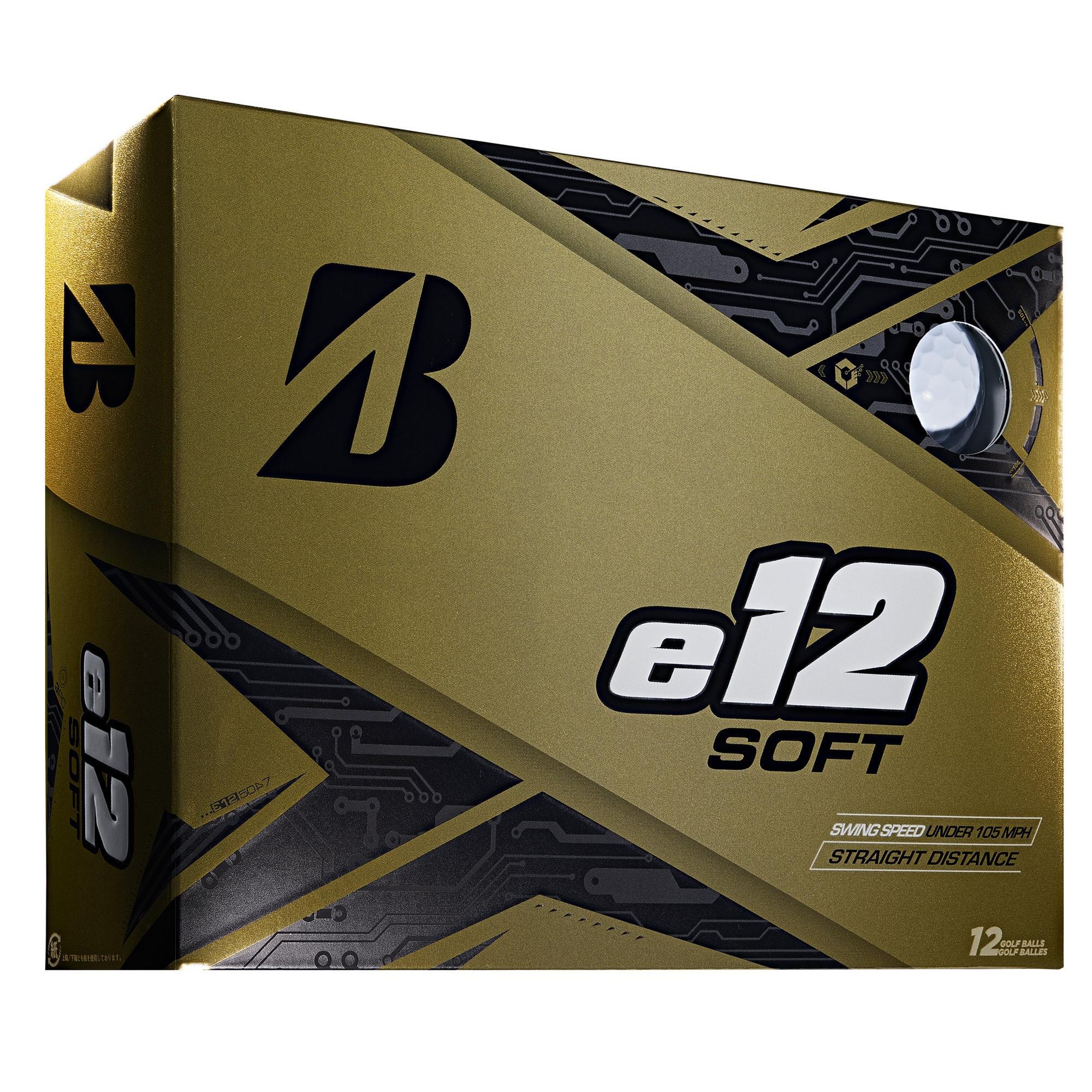 e12 Soft Golf Balls - White