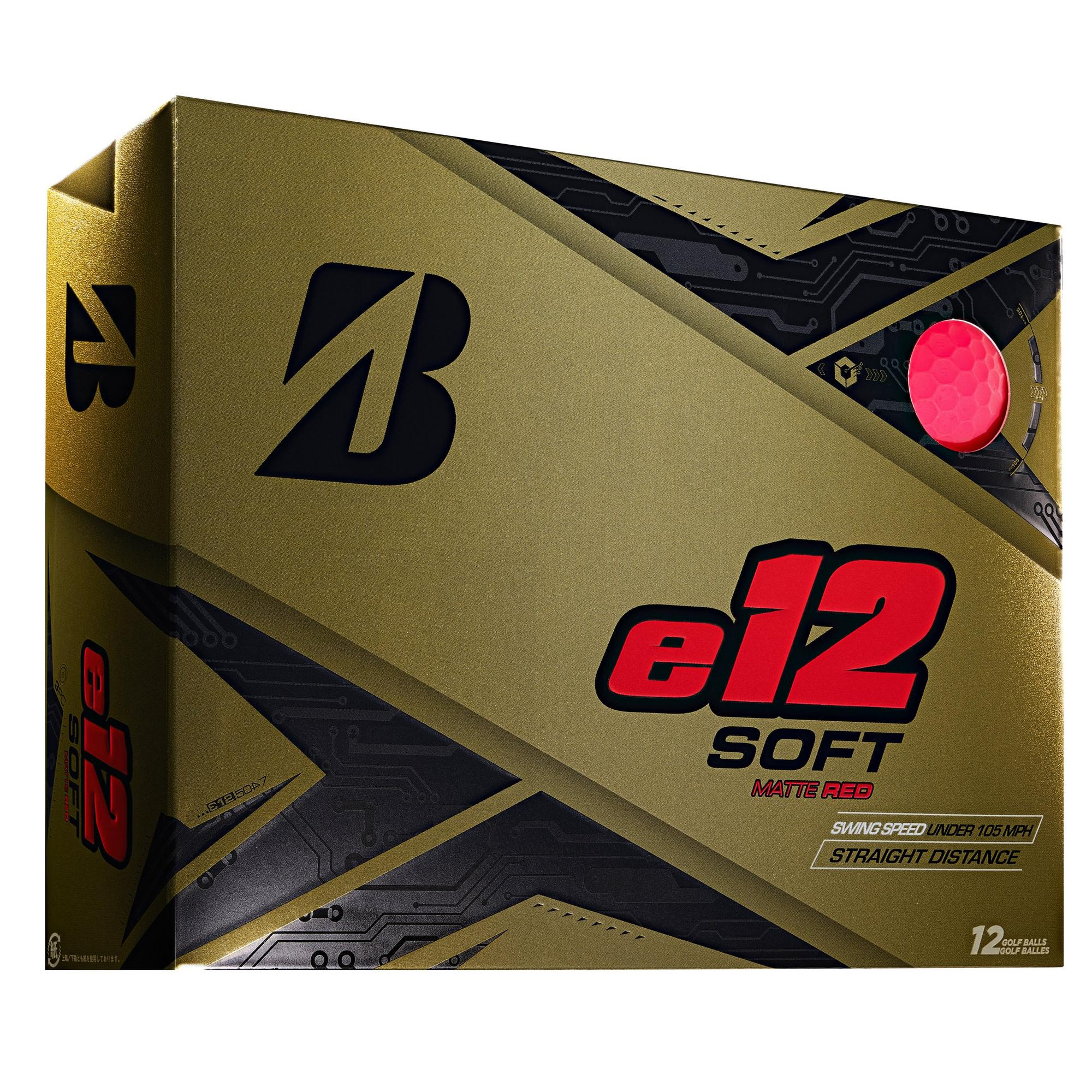 e12 Soft Matte Golf Balls - Red