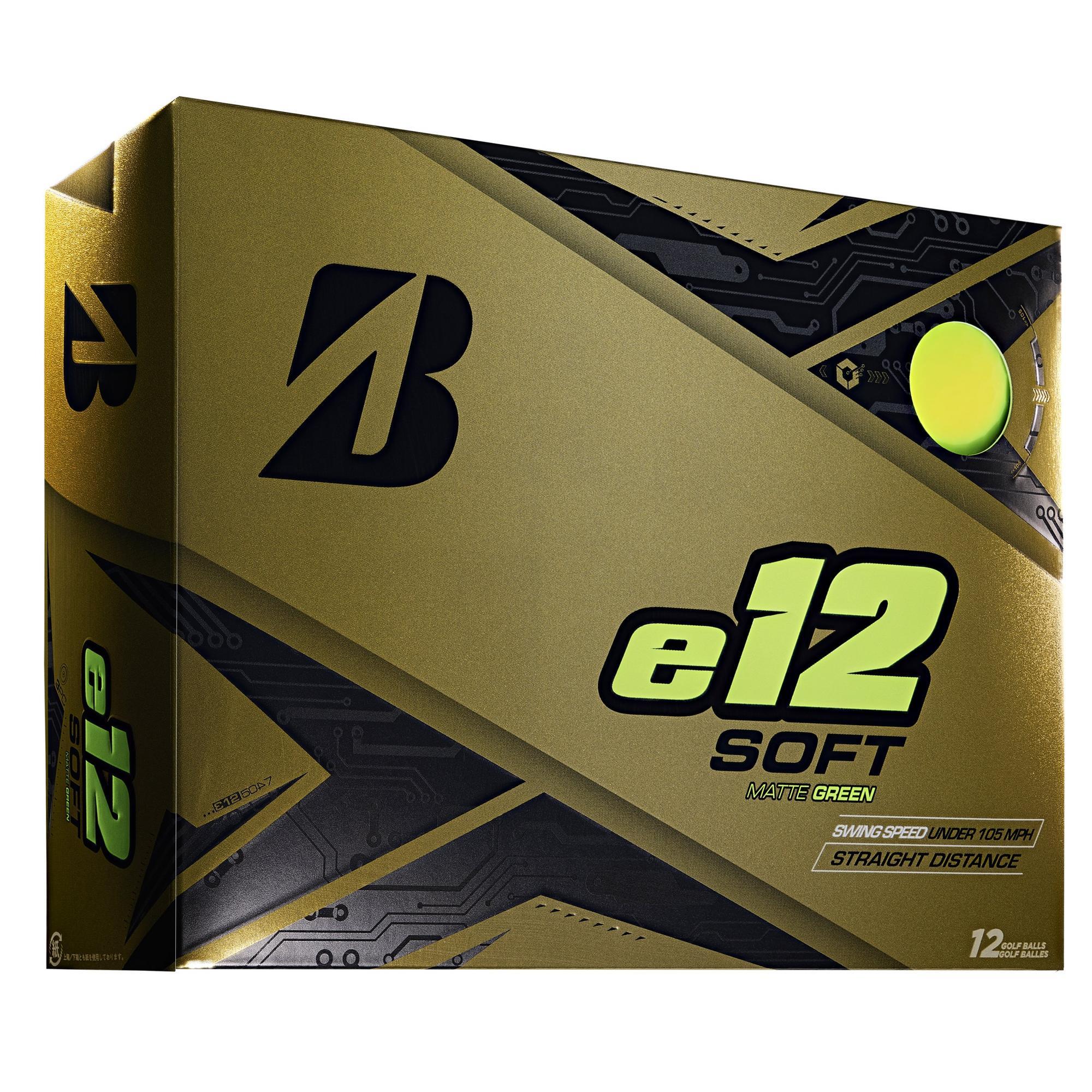 e12 Soft Matte Golf Balls - Green