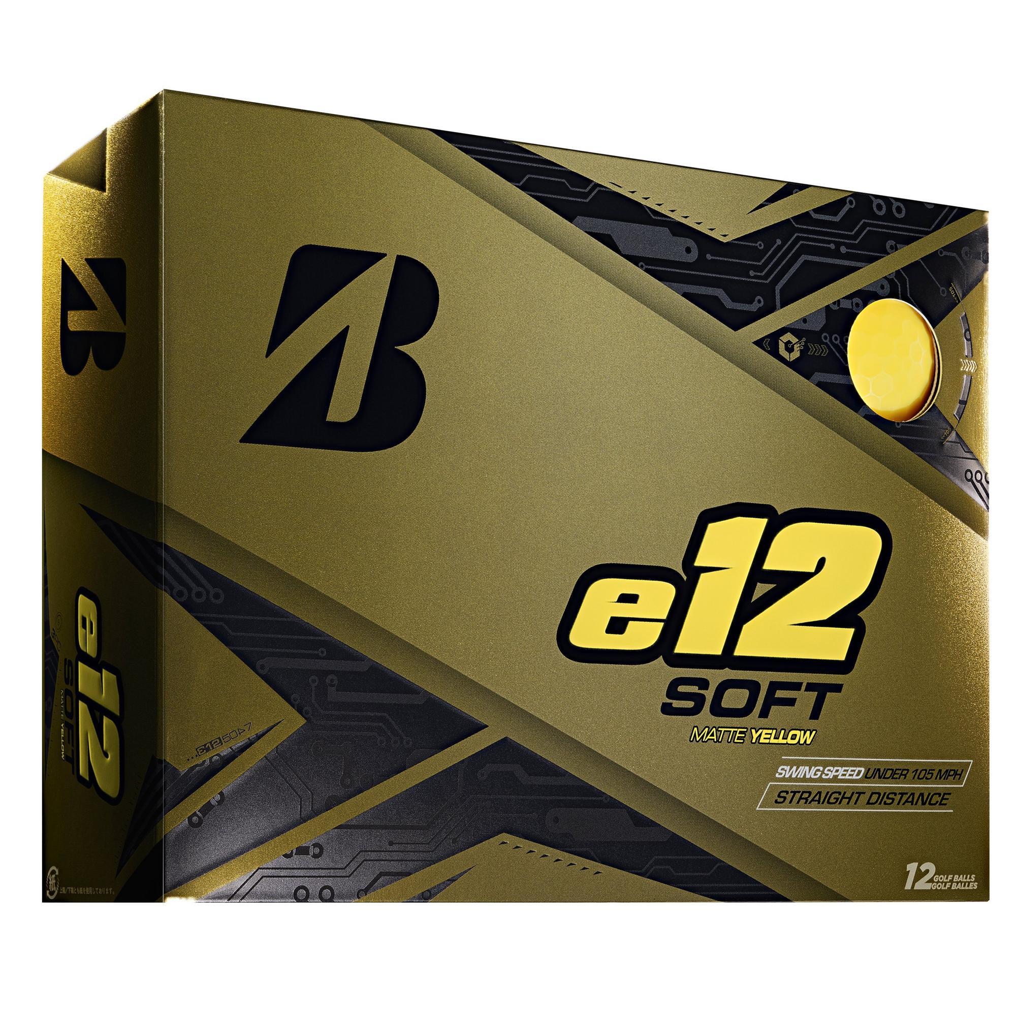 e12 Soft Matte Golf Balls - Yellow