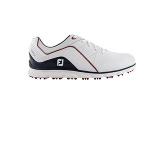 Men's Pro SL Spikeless Golf Shoe - WHITE/NAVY/RED