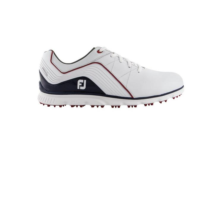Men's Pro SL Spikeless Golf Shoe - WHITE/NAVY/RED