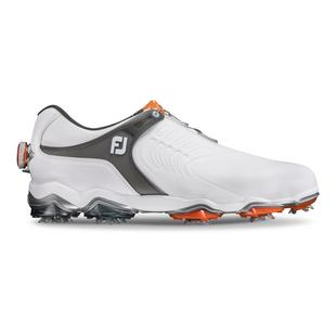 Men's Tour S Boa Spiked Golf Shoe - WHITE/GREY/ORANGE