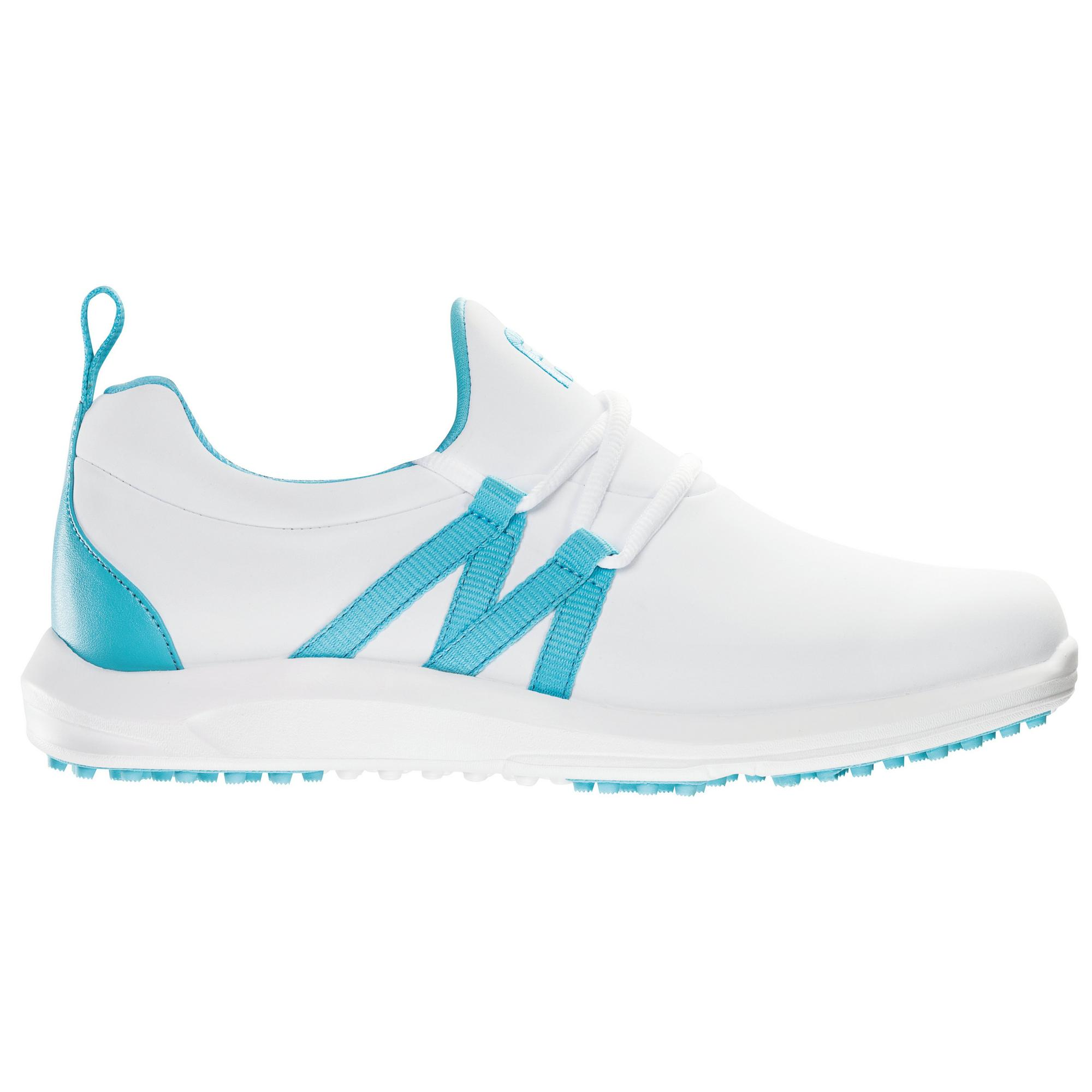 Women's FJ Leisure Slip On Spikeless Shoe - WHITE/LIGHT BLUE